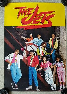 The Jets Pop Music Band Autographed Poster 1980s