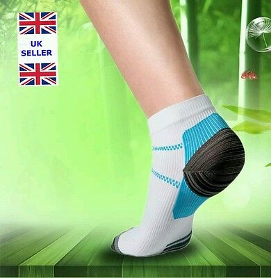 Foot Compression Socks For Plantar Fasciitis Heel Spurs Pain 2 pairs free n Post