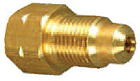 Weatherhead 7937 Brass Adapter 10MX1.0 Inverted Flare To 13MX1.5 Bubble Flare