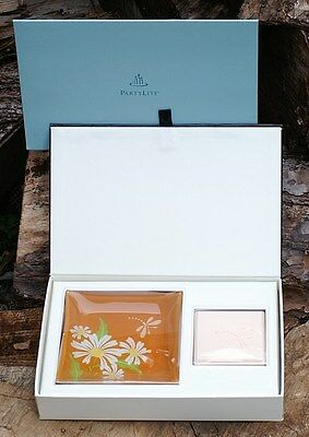 NIB Partylite Party Lite Sunny Afternoon Gift Set Ensemble Dragonfly Soap & Dish
