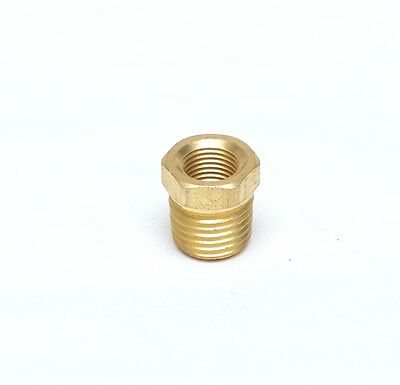1/4 NPT Male x 1/8 NPT Female Brass Reducer Bushing Adapter Oil Gas FasParts