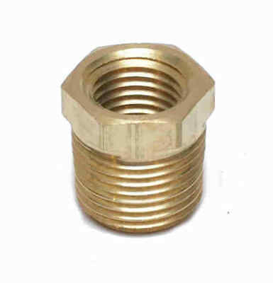 3/8 NPT Male x 1/4 NPT Female Brass Reducer pipe bushing adapter Water Oil Gas