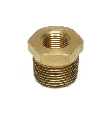 3/4 NPT Male x 3/8 NPT Female Brass Reducer bushing adapter FasParts
