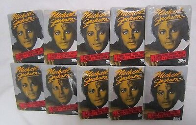 1984 TOPPS Trading Cards MICHAEL JACKSON Lot of 10 WAX PACKS w/ Gum SEALED *
