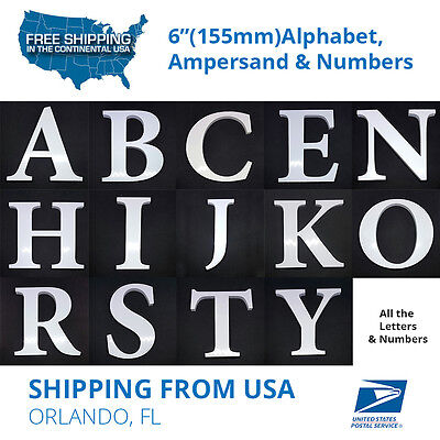 White Letters for Wedding Decor Alphabet Ampersand USA Stock Self-Adhesive