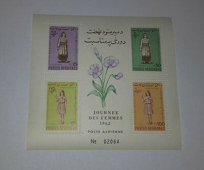 Afghanistan Journee Des Femmes Women's Day 1962 Minisheet Of 4 Stamps