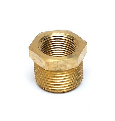 "Reducer bushing 1"" NPT Male x 3/4 NPT Female Brass adapter FasParts"