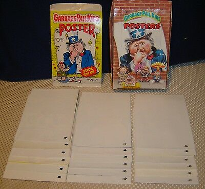 Garbage Pail Kids Posters Lot of 35! Plus Box and Wrapper One Full Set 1986
