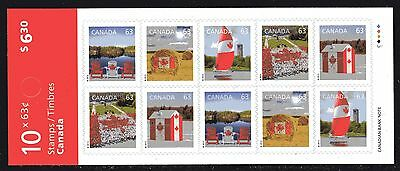 2013  Canada SC# BK567 Canadian Pride With repeating Canada - booklet of 10 M-NH