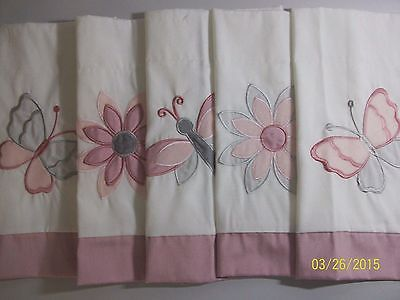 Kidsline Inspiration Window Valance Pink Dragonfly Butterfly Bath Bed Play Room