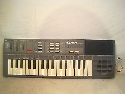 *modified vintage CASIO PT-87 electronic keyboard musical synthesizer instrument