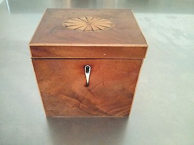 Antique inlaid tea caddy