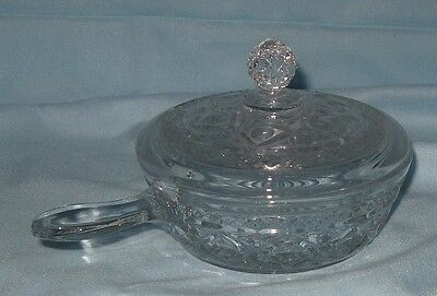 Imperial Cape Cod Round Butter Dish with Lid Handle