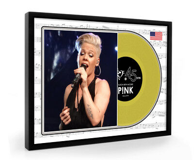 Pink P!nk Framed Gold Disc Vinyl Display Premium Edition