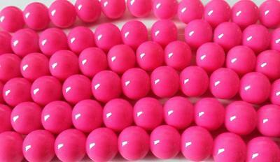 Bulk Lot of 264 Round 10mm Bright Pink Porcelain Beads Wholesale Clearance