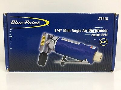 "Blue-Point AT118 1/4"" Collet 90* Angle Mini Air Die Grinder (20,000 RPM)"