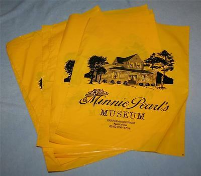 10 Vintage MINNIE PEARL MUSEUM Gift Shop Bags COUNTRY MUSIC Grand Ole Opry RARE