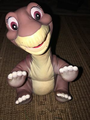 Vintage 1989 Land Before Time Little Foot Hand Puppet Pizza Hut Toy Rubber Dino