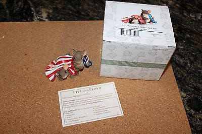 As True as Red White and You Charming Tails Fitz Floyd 98/280 Patriotic Flag
