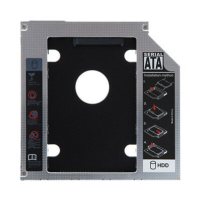 SATA 2nd HDD SSD Hard Drive Caddy for 12.7mm CD/DVD-ROM Optical Bay Laptop FR