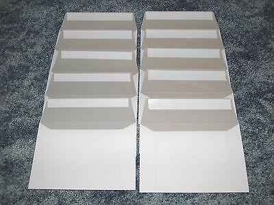 "Ten 6 1/2"" x 4 1/2"" Rigid Mailers for Postcard or Photo Cardboard Envelope, Seal"