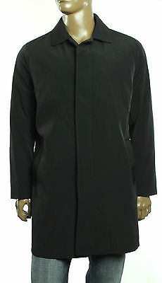 New Mens Kenneth Cole New York Water and Wind Repellent Black Raincoat Jacket