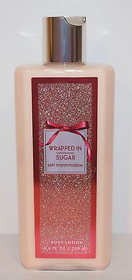 New Bath & Body Works Wrapped In Sugar Marshmallow Lotion Cream Hand Large 8.4Oz