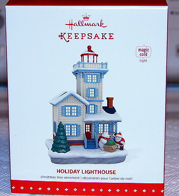 BRAND NEW 2015 Hallmark Magic Cord Ornament Holiday Lighthouse #4  FAST SHIP