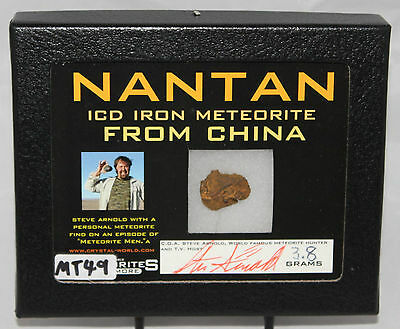 METEORITE From CHINA GENUINE NANTAN ICD IRON, Framed and Signed (MT49)