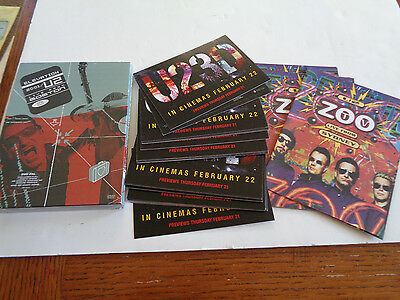 U2 Elevation Live From Boston Promo Dvd Set And Flyer Bundle