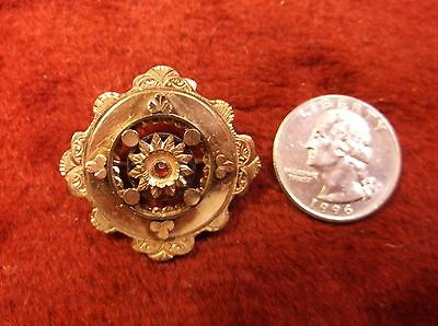 Stunning, Beautiful Vtg Antique English Victorian Rose Gold Filled Brooch Pin