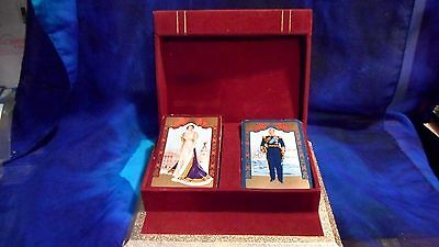 Vintage 1953 Queen Elizabeth Ii Prince Phillip Coronation Used Playing Cards