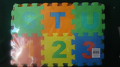 Foam Baby, Children Puzzle Mats Number and Letters Puzzle About 14 Squared Feet