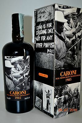 Rum CARONI 21 years old Rare Vintage 1985  Velier with box (rhum-ron)