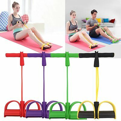 Workout Resistance Band Rope Tube Elastic Exercise Equipment for Yoga Pilates OH