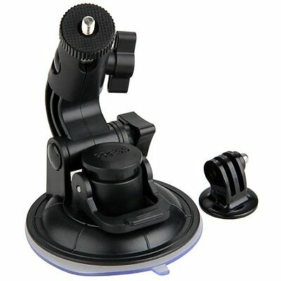 Suction Cup Car Glass Window Mount + Tripod Adapter for GoPro 1 2 3 SE