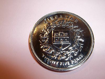 Gibraltar 25 Pence Coin - Qe2 Silver Jubilee 1977