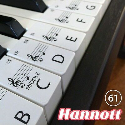 Keyboard / Piano Stickers SET up to 61 KEYS the best way to learn Piano