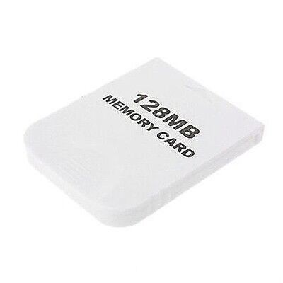 128MB Memory Card for Nintendo Wii Gamecube GC Game White SE