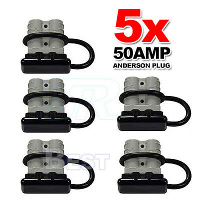 5X 12-24V Anderson Plug Style Connector DC Power Exterior 50AMP Dust Cap Cover