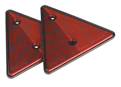 Sealey TB17 Rear Reflective Red Triangle Pack of 2