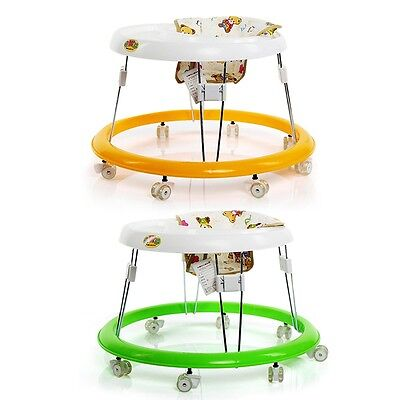 Baby Walker Round Bright Folding Walk Assistant Indoor Toddler Comfortable Seat