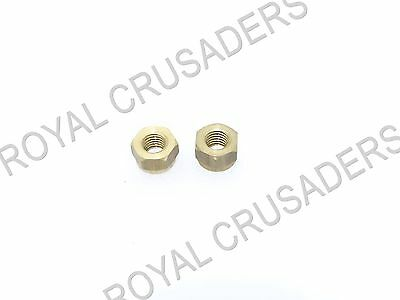 New Lambretta Gp, Li ,sx ,tv Brass Exhaust Nuts 2 Unit #vp87 (Code-3210)