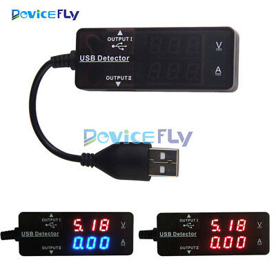 LED USB Charger Doctor Voltage Current Meter Tester Power Detector Red Blue