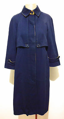 DANIEL HETCHER PARIS VINTAGE '70 Cappotto Donna Woman Trench Coat Sz.S - 42