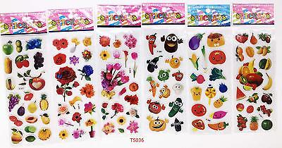 Children's cartoon toys mix fruits and vegetables sticker 6pcs / lot of kid gift