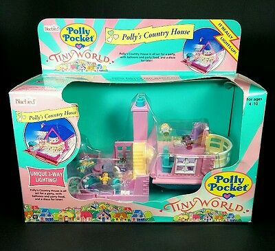 *NEW* Polly Pocket 1993 BAY WINDOW Vintage Bluebird Complete COUNTRY HOUSE