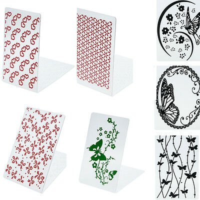 Different Pattern Plastic Embossing Folders DIY Card Decoration Supplies Utility