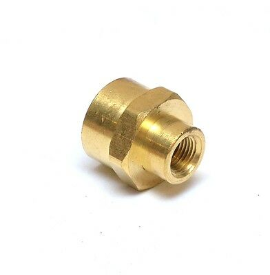 """Female Pipe Reducer 3/8"""" to 1/8"""" NPT Adapter Coupler Brass Fitting Water Oil Gas"""