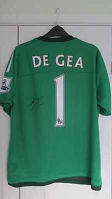 "Signed "" DAVID DE GEA - Manchester United "" 2015/16 Goalkeepr Shirt (PROOF & COA"